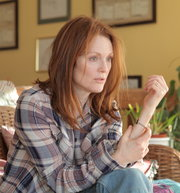 "In ""Still Alice,"" Julianne Moore portrays a college professor who learns she has Alzheimer's disease."
